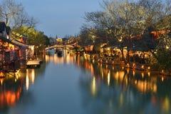 Scena di notte di Wuzhen Immagine Stock