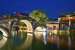 Scena di notte di Wuzhen, Cina Immagini Stock
