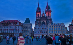 Scena di notte a Praga, repubblica Ceca Immagini Stock Libere da Diritti