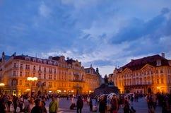 Scena di notte a Praga, repubblica Ceca Fotografie Stock Libere da Diritti