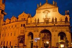 Scena di notte a Praga, repubblica Ceca Fotografia Stock Libera da Diritti