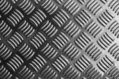 Scena di piastra metallica del primo piano in bianco e nero Fotografia Stock
