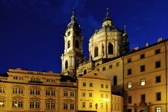 Scena di Praga di notte Fotografia Stock Libera da Diritti