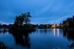 Scena di Pre-alba sul lago Buckhorn fotografia stock libera da diritti