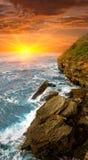 Scena di sera sul mare Fotografie Stock