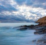Scena di sera sul mare Fotografia Stock Libera da Diritti