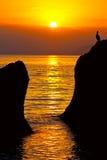 Scena di sera sul mare Fotografie Stock Libere da Diritti