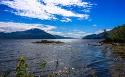 Scena di Serene Scandinavian Fjord Fotografie Stock Libere da Diritti