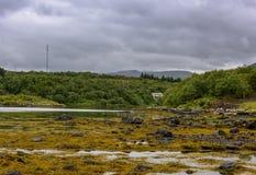 Scena di Serene Scandinavian Fjord Village Fotografia Stock Libera da Diritti