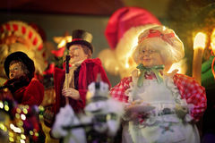 Scena di sig.ra Santa Claus Christmas Holiday Fotografia Stock Libera da Diritti
