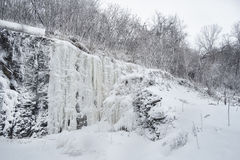 Scena di Snowy e ghiacciata di inverno Immagine Stock