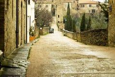 Scena di Tipical della Toscana, Italia Fotografie Stock Libere da Diritti