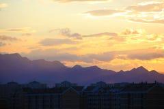 Scena di tramonto Fotografia Stock Libera da Diritti