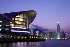 SCENA DI TRAMONTO DI HONG KONG Fotografie Stock Libere da Diritti