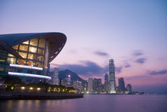 SCENA DI TRAMONTO DI HONG KONG    Immagine Stock Libera da Diritti