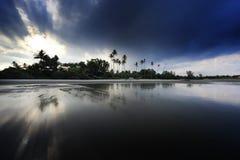 Scena di tramonto o di alba Fotografia Stock