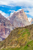 Scena di verticale della montagna Immagine Stock