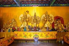 Scena di Wutaishan (supporto Wutai). Oro Buddh. Immagini Stock