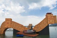Scena dla opery Turandot na Jeziornym Constance Zdjęcie Stock