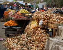 Scena egiziana del mercato Fotografia Stock Libera da Diritti