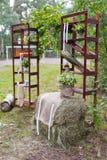 Scena esterna di cerimonia nuziale Fotografie Stock