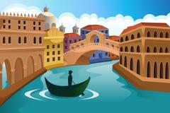 Scena europea della città illustrazione vettoriale