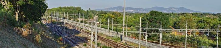 Scena ferroviaria Fotografia Stock Libera da Diritti