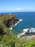Scena hawaiana con il faro Immagini Stock