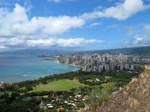 Scena hawaiana dal cratere immagine stock libera da diritti