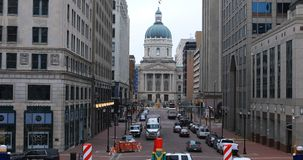 Scena Indiana State Capital Building, Indianapolis 4K stock footage