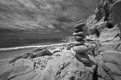 Scena infrarossa della spiaggia Fotografia Stock