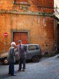 Scena italiana tipica della via Immagini Stock Libere da Diritti