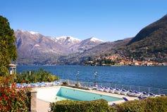 scena jeziora como Włochy Fotografia Royalty Free