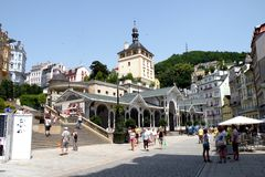 Scena a Karlovy Vary Fotografie Stock Libere da Diritti