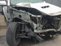 Scena kraksa samochodowa, wypadek samochodowy Obrazy Stock
