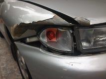 Scena kraksa samochodowa, wypadek samochodowy Zdjęcia Royalty Free