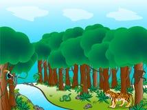 scena leśna Ilustracja Wektor