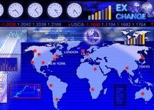 Scena mercato dei cambi di valuta estera Fotografia Stock Libera da Diritti