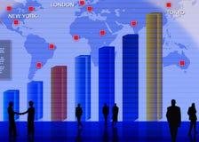 Scena mercato dei cambi di valuta estera Fotografia Stock