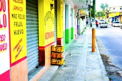 Scena messicana della via fotografie stock
