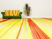 Scena moderna di disegno interno con un sofà Immagine Stock