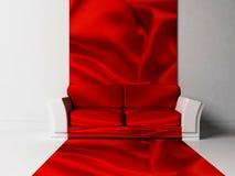 Scena moderna di disegno interno con un sofà Fotografia Stock Libera da Diritti
