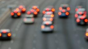 Scena molto vaga di traffico urbano video d archivio