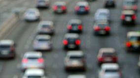 Scena molto vaga di traffico urbano stock footage
