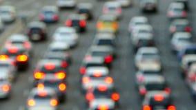 Scena molto vaga di traffico urbano archivi video
