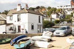 Scena morza miasteczko w Essex, UK zdjęcia royalty free