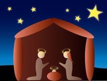 scena narodzenie jezusa ilustracji