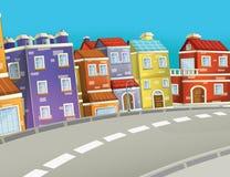 Scena nella città - fondo del fumetto Fotografie Stock