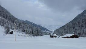Scena nella valle di Saanenland, Svizzera di inverno Fotografia Stock
