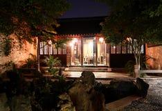 Scena noc w Xitang antycznym miasteczku, Zhejiang prowincja, Chiny Obrazy Royalty Free